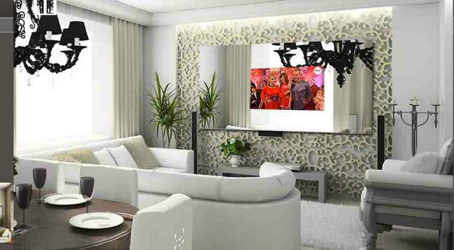 mirror multimedia telewizor w klasycznym wnętrzu