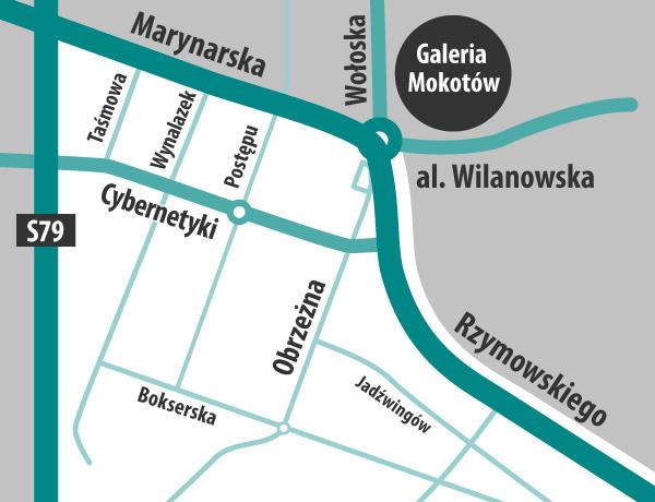 Obrzeżna online mapa  s