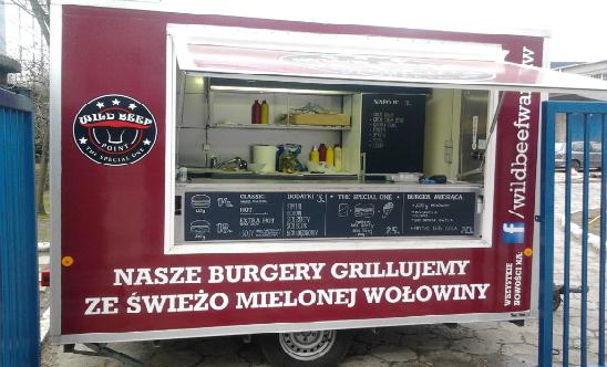 przyczepa Wild Beef - Burgery Warszawa