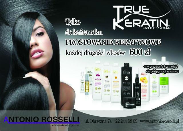 Antonio Rosselli keratynowe prostowanie włosów